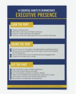 14 Essential Habits to Demonstrate Executive Presence