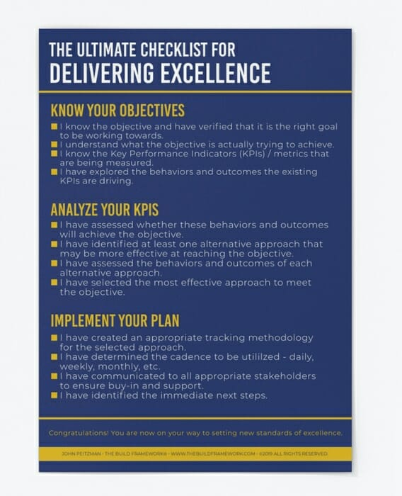 The Ultimate Checklist for Delivering Excellence